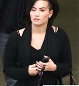 Demi Lovato Arrives in Los Angeles - December 5