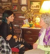 Demi Lovato & Family Visits Lorraine Warren's House - October 16