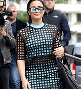Demi Lovato Arrives at Arrives at NRJ Radio Station - September 7