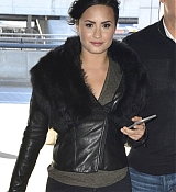 Demi Lovato Arrives at JFK Airport - March 12