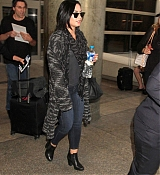 Demi Lovato Arrives at LAX Airport - August 12
