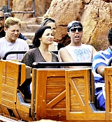 Demi Lovato and Wilmer in Disneyland - March 15