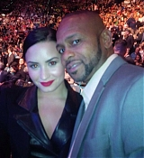 Demi Lovato and Wilmer Valderrama are seen at the MGM Grand Garden Arena in Las Vegas, Nevada on January 31, 2015.