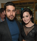 Demi Lovato and Wilmer Valderrama at Nick Jonas Single Party - January 20