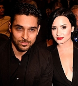 Demi Lovato and Wilmer Valderrama at UFC 184 Event