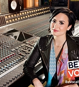 Demi Lovato for be Vocal Speak Up Shoots