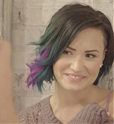 Demi Lovato for Colorful Hair Extension Line