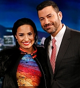 Demi Lovato at The Jimmy Kimmel Show Stills