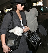Demi Lovato Arriving at LAX Airport - Decmeber 19
