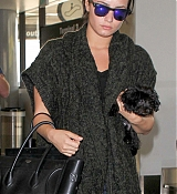 Demi Lovato Arrives at LAX Airport - September 28