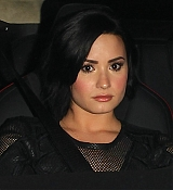 Demi Lovato Leaving The Ivy - January 20