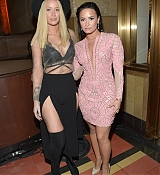 Demi Lovato & Iggy Azalea at Jeremy Scott And adidas Originals VMA's After Party - August 30