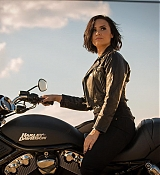 Demi Lovato Riding a Bike in Confident Music Video