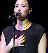 Demi Lovato at Highline Ballroom in NY for Advertising Week & The Universal Showcase - September 29